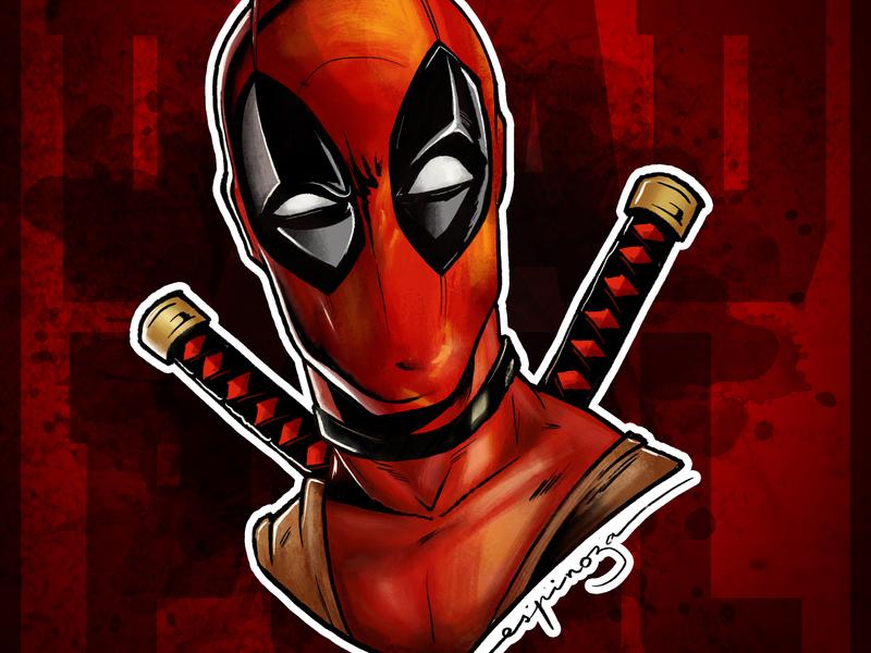 Deadpool Drawing on Procreate procreate art procreateapp procreate drawn drawingart drawing deadpoool
