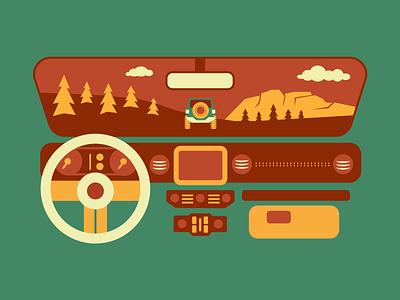 Dashboard Illustration minimal simple offroad dashboard jeep illustrator illustration vector