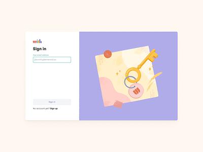 Sign In graphic design digital design log in texture art branding productdesign uidesign uxuidesign signing signin design illustration