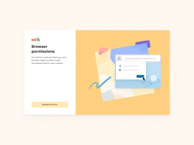 Browser Permission product design texture colors illustration uxuidesigner branding design branding browser permission browser permission uxuidesign design