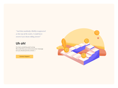 Uh Oh Page branding product design ux ui designer graphic design brand graphic design illustration ux ui design failure page uh oh page error page design