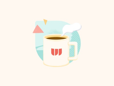With for Virtual Office graphic design virtual office office coffee remote working workfromhome design illustration design illustration