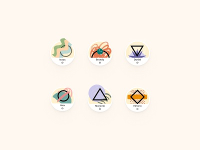 Abstract Avatars 2 abstract art ui design remote working work from home branding texture illustration design profile avatardesign avatar abstract