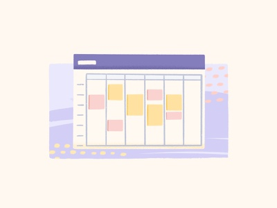 With for Scheduling remote workfromhome remoteworking graphic design branding schedule scheduling product design design illustration