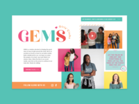 Gems Landing Page