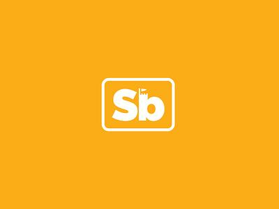 Sandbox Alternate Mark yellow alternate icon custom fabrication craftsmen box sand sandbox rebrand branding logo