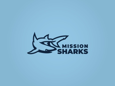 Sharks Logo kansas city kc sports logo sports logo branding escape room escape breakout kansas mission sharks shark