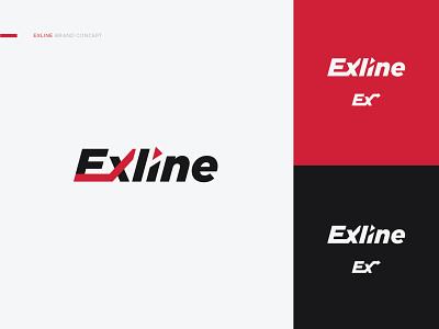 Exline Logo Concept design concept power compression gas repair machine machinery brand identity brand design logo design logodesign branding logo