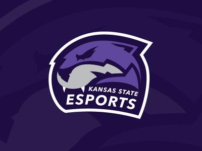Kansas State Esports Team Logo purple gaming cat wildcat esports kansas state kansas logo