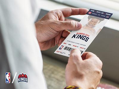 Kansas City Kings Ticket Concept graphic design ticket branding rebranding basketball nba kings kansas city