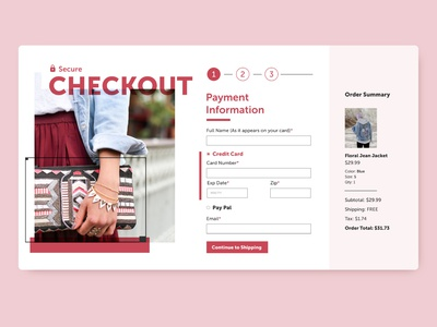 Credit Card Checkout Desktop ecommerce adobexd daily ui dailyuichallenge ui design ux uxdesign ui