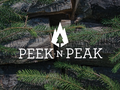 Peek'n Peak Logo Redesign snowboard ski skiresort photoshop illustrator logo branding