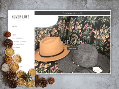 Woven Luxe Boutique Website