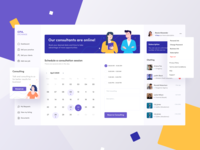 CPA exchange Dashboard website clean minimal typogaphy chat vector uidesign illustration profile calendar consultation design ux ui admin design admin dashboard design dashboard