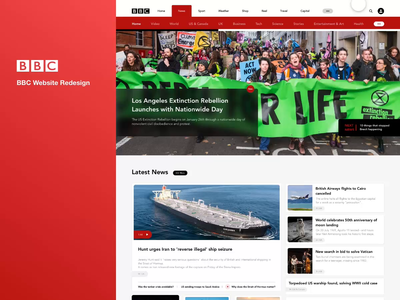 BBC Home Page Redesign