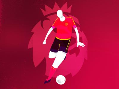 Premier League ball illustration premierleague football soccer