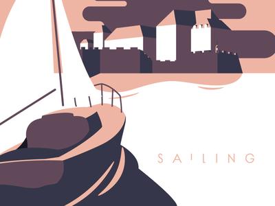 Sailing sea sailor boat sailing