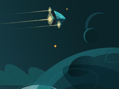 Sci-fi adventure planet space spaceship