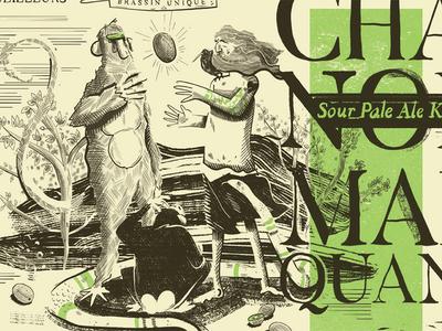 Missing link snake kiwi packaging bible monkey illustration brewery craftbeer beer