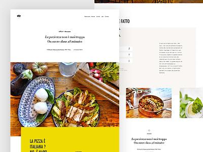 Big Mamma colorful drink food minimal typography grid layout