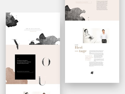 You By Jean Dousset type typography layout minimal fashion