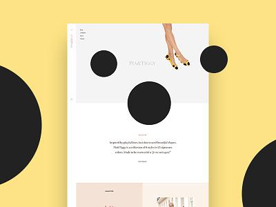 Pia & Tiggy fashion shoe typography minimal color dots