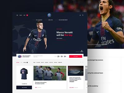 Paris Saint-Germain website soccer psg paris typography grid sports layout magazine media football