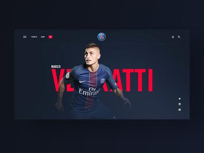 Paris Saint-Germain — Player Page calcio typography sports soccer psg paris media magazine layout grid football