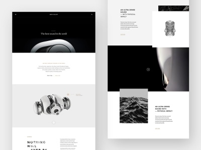Devialet premium luxury speaker audio shop editorial ecommerce grid minimal layout typography