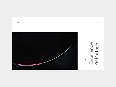 Millemann Wines vineyard wine video animation editorial grid layout minimal typography