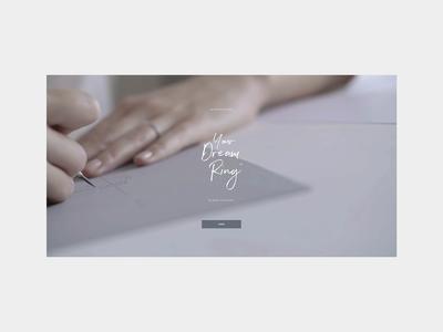Jean Dousset — Your Dream Ring ecommerce minimal layout typography ux ui motion webgl 3d customizer luxurybrand luxury jewelry design jewelry animation