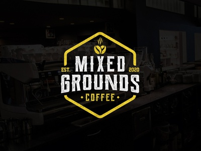 Mixed Grounds branding identity texture design minimalist logo drink mixed bar coffee shop coffee