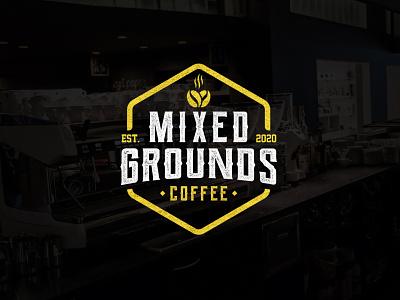 Mixed Grounds branding identity texture design minimalist logo drink mixed bar coffee shop coffee