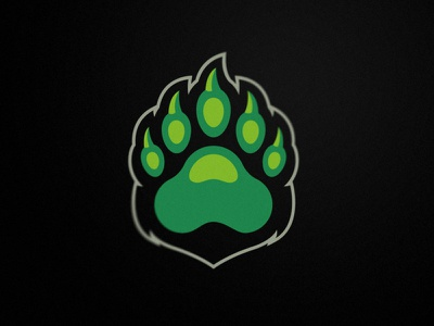 Paw Bear team esport sport branding logo design illustration symbol grizzly paw bears mascot sport logo