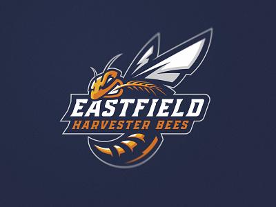 Bees design identity illustration branding logos hornets team college sport mascot bee