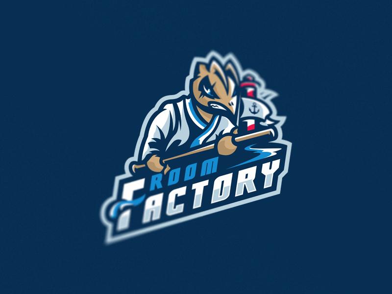 room factory logo games multigaming gaming pro team sport mascot logos esport factory room
