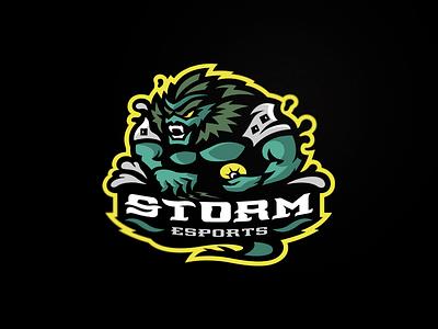 Storm designs snepz logo branding sports esport team mascot