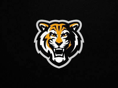 Tiger gaming logo golden tigers karate team esport illustration design mascot logo sport mascot