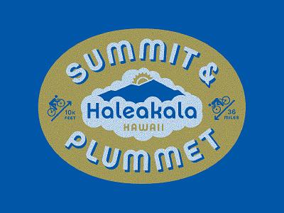 Summit & Plummet twin six hawaii clouds drop shadow bicycle cycling ride bike sunrise oval haleakala