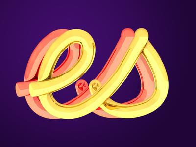 3D TYPE visual art c4d type typo 3d