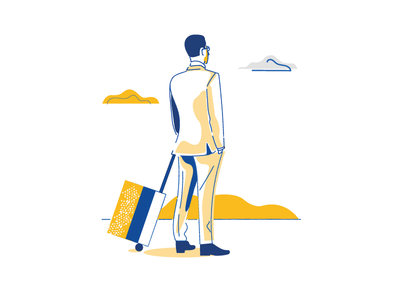 Waiting for flight texture branding design colours digital illustration