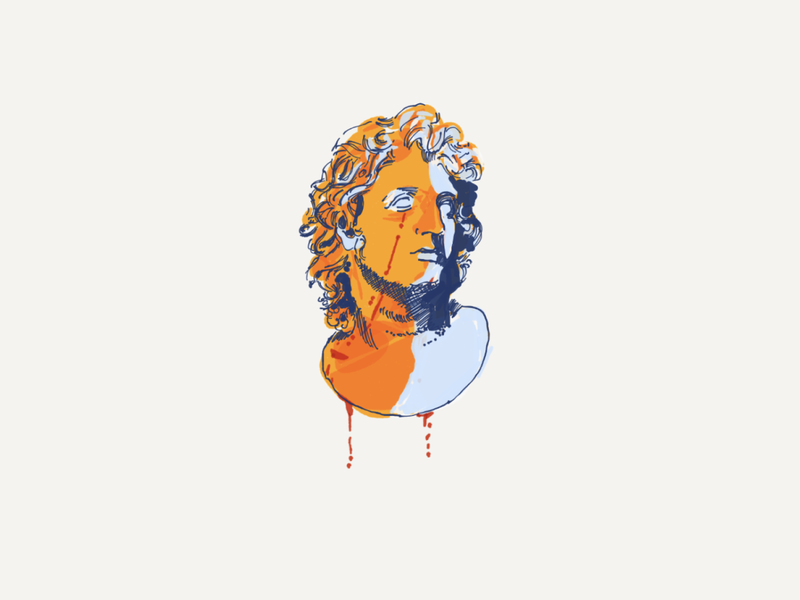 EMPEROR alexander greek mythology history design colours art digital texture illustration