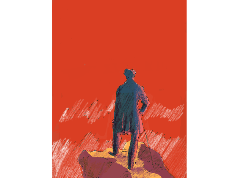 SOLO iphone wanderer painting history design colours art digital texture illustration