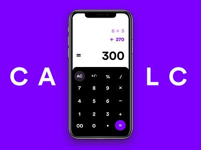 Simple Calculator web flat dailyui app ux ui uiux design