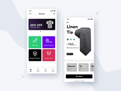 Stitchers App Design clean mobile iphone debut identity vector web minimal type website typography illustration icon dailyui flat app ux ui uiux design