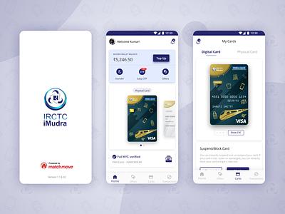 IRCTC iMudra web minimal interaction logo branding app ux uiux ui design