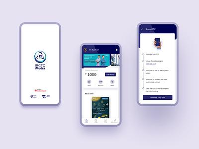 IRCTC iMudra Refreshed! icon minimal flat branding interaction app ux ui uiux design