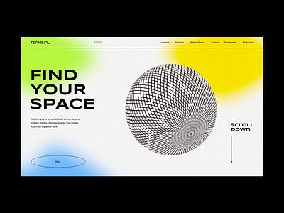Terminal  |  UI Concept Exploration landing page uidesign ui boldmonkey georgia website web design webdesign