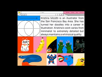 Personal Web Page for Kristina Micotti boldmonkey georgia mondrianism minimalism ui illustration web design webdesign website web landing page