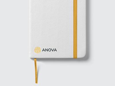 Stationary - Anova georgia boldmonkey facebook cover folder notebook brand book guideline brand identity logo brand print branding